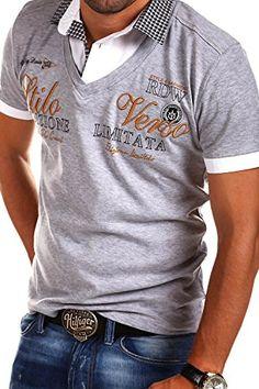 MT Styles 2in1 Poloshirt WI-VERSO T-Shirt R-2346 [Grau, XL]