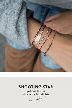 shooting star armband edelstein bordeaux rose aussergewoehnlich schmuck online kaufen