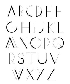 3 Ways to Improve Your Typography Alphabet Design Typography Served, Typography Letters, Graphic Design Typography, Art Deco Typography, Alphabet Design, Font Alphabet, Letras Cool, Typographie Fonts, Schrift Design