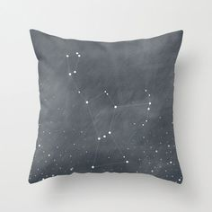 Orion Constellation Stars Dark Grey Blue Home Decor Throw Pillow Cover Decorative Pillow Cover Stars Decor on Etsy, $36.00