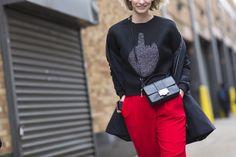 Sokak Stili: 2015 Sonbahar New York Moda Haftası 7.Gün