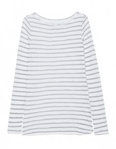 JUVIA Stripe Print Grey White