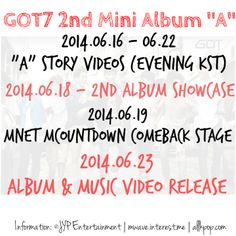 "GOT7 ""A"" 2nd Mini Album Schedule » #갓세븐 #에이 Official Channels for more information, please visit: ▶Homepage: http://got7.jype.com/ ▶Facebook: https://facebook.com/GOT7Official ▶Twitter: https://twitter.com/GOT7Official ▶Fancafe: http://cafe.daum.net/GOT7Official"