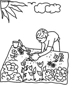 Flowers On The Garden Colouring Pages Flower Coloring Free Printable