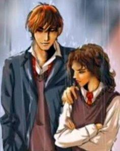 I love Harry Potter fanart, especially 'Ron & Hermione'.