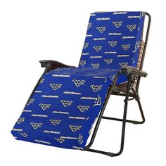 West Virginia Mountaineers 3 Piece Chaise Lounge Seat Cushion