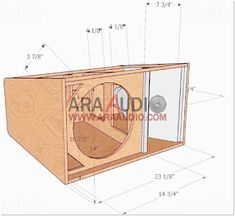 Skema Box 12 inch + Tweeter - ARA AUDIO Diy Subwoofer, Subwoofer Box Design, Speaker Box Design, Woofer Speaker, Speakers, Speaker Plans, Woodworking Projects Diy, Planer, Toy Chest