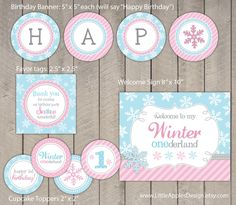Winter Onederland Birthday Package / Winter by DreamyDuck on Etsy