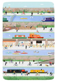 Rose Blake gallery - News - Artists & Illustrators - Original art for sale direct from the artist Architecture Visualization, Architecture Drawings, Landscape Architecture, Collages, Sectional Perspective, Regents Canal, Urban Design Diagram, How To Make Drawing, Game Concept Art