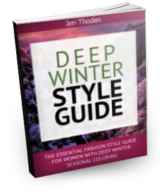Deep Winter Style Guide - Discover how to wear your deep winter colors through the use of the deep winter color wheel and color combinations. Lots of inspiration! Click to learn more...