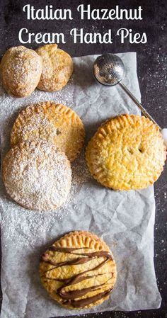 Italian Hazelnut Cream Hand Pies, a traditional Italian Pastry, stuffed with a Nutella filling that makes them a delicious Snack or Dessert.
