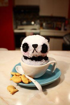 Pom Pom Pets - Panda by Harugurumi, via Flickr