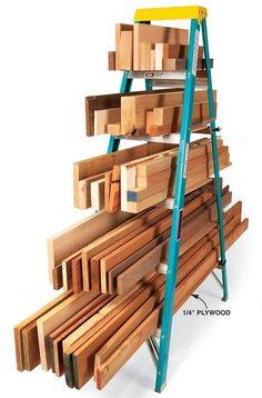 organizar madeiras em uma escada