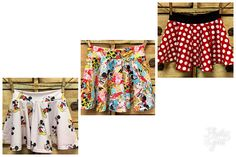 Twirly and adorable mickey spandex skirt girls boutique girls