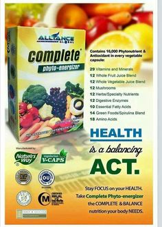 Complete Phyto-Nutrients- introduces a new concept in supplements taken for daily health and energy through a wider range of distinctly balanced nutrients that provide the crucial health value from three important areas: daily essentials, botanical energi Super Green Food, Heath Care, Barley Grass, Super Greens, Nutrition, Essential Fatty Acids, Greens Recipe, Spirulina, Lower Cholesterol