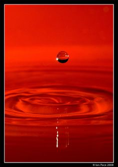 Red Water Droplet