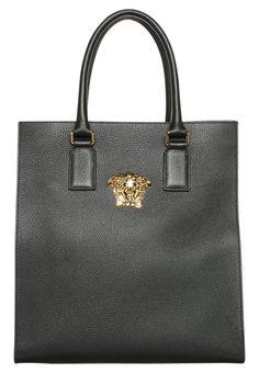 Versace PALAZZO Torba na zakupy black/goldcoloured 3,959.20zł #moda #fashion #men #mężczyzna #versace #palazzo #torba #na #zakupy #męska #skóra #skórzana #shopper