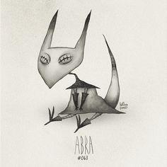 Abra #063 Part of The Tim Burton x PKMN Project By Vaughn Pinpin
