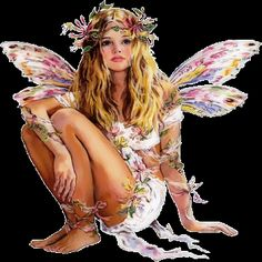 """Another """"she might be an angel, she might be fairy."""" Maybe she started out as a fairy and is transforming into an angel! Fairy Dust, Fairy Land, Fairy Tales, Fantasy World, Fantasy Art, Fantasy Fairies, Fantasy Images, Fantasy Dragon, Gifs Disney"""