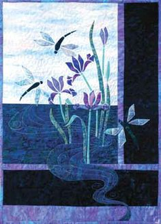 applique quilt dragonfly