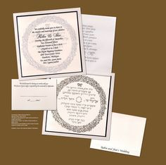Honoring Tradition Jewish Wedding Invitation Keywords: #weddings #jevelweddingplanning Follow Us: www.jevelweddingplanning.com  www.facebook.com/jevelweddingplanning/