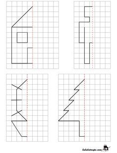 maths-deplacement-dans-un-quadrillage-reproduire-les-chiffres-2 | Dominos - Nombres Cacul ...