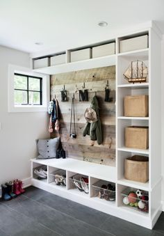 mud room storage concept