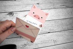 KuneCoco • Freebie • Liebesbrief mit Schweinchen