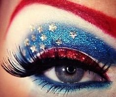Intense #4thOfJuly #makeup #red #white #blue