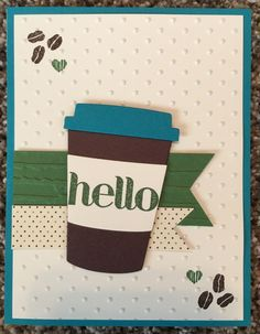 Stampin Up Coffee Cafe modified case from Katina, {Loving Life's Little Blessings} youtube video