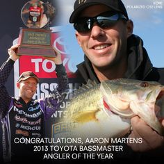 """One of the best days of my whole entire career""- Aaron Martens.  Aaron Martens wins Angler of the Year for a second time. Beginning the season with a rough start in 85th place, Aaron never lost focus or got distracted. It was with this dedication that Kaenon pro angler Aaron Martens finished with 652 points. Aaron wears Kaenon Kore C12  #KAENON #ANGLER #FISHING"