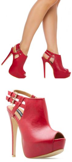 Red Buckle Heels <3