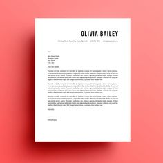 The Olivia resume template and cover letter is available for instant download as a .docx file to edit in Microsoft Word. Make as many changes as you want to colors, fonts etc. Print from Word or save as PDF and email. Included in your order:  Olivia Font Instructions .docx - includes links to the free fonts used in the template Olivia Resume .docx Olivia Cover Letter .docx  NOTE - you will need to have MS Word installed and and understanding of how to use it in order to use this template…