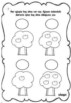 Okul öncesi 1 Rakamı Tamamlama Hazırladığım çalışma Sayfaları
