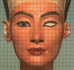 nefertiti drawing | Click for full face. Non-gridded face here .)