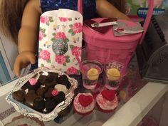 American Girl Valentine's basket and goodies by lilyvictoria