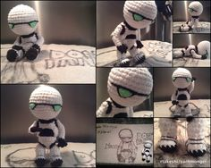 Marvin the Paranoid Android Amigurumi by RTakeshi