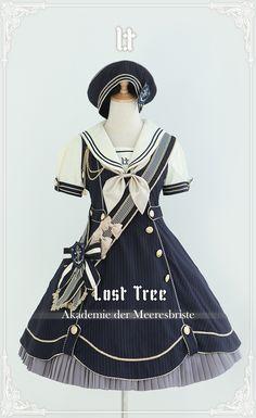 --#LolitaUpdate: [-✎-Akademie der Meeresbriste-❤-] Series --Learn More >>> http://www.my-lolita-dress.com/lost-tree-akademie-der-meeresbriste-lolita-jsk-lt-2