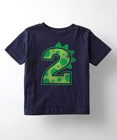 Look what I found on #zulily! Navy Dinosaur '2' Tee - Toddler & Kids #zulilyfinds