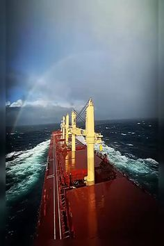 When you chase rainbows, it is inevitable you will run into storms #lifeatsea #marineinsight #sea #ship #seafarer #maritime #seaman #sailor #sailing Video by @chasinghorizonss