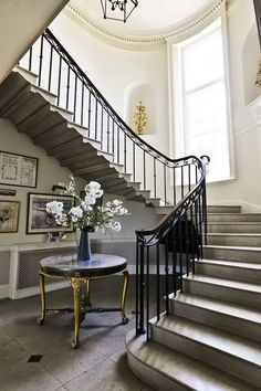 French, Belgian and Swedish design.  They play off each other so effortlessly - adding that perfect touch of neo-classical, rough-organic and monochromatic serenity!