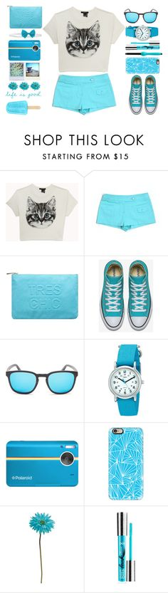 """""""Meow"""" by juliehalloran ❤ liked on Polyvore featuring Forever 21, Trina Turk, Miss Selfridge, Finlay & Co., Timex, Polaroid, Casetify, Allstate Floral, PurMinerals and Brilliance New York"""