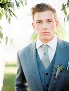 Groom's Attire: Nicholas Joseph - http://customsuitsyou.com Photography: Kristin La Voie Photography - kristinlavoiephotography.com   Read More on SMP: http://www.stylemepretty.com/2016/08/01/rustic-glam-wedding-inspiration-win/