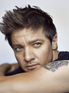 Jeremy Renner. Good looking 4 someone in there 30's or so^.*
