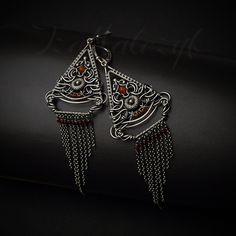 Aine - okazałe srebrne kolczyki w romantycznym stylu / Iza Malczyk / Biżuteria / Kolczyki