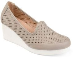 24fc6e38aa6 Brinley Co. Womens Comfort-sole Laser-cut Lightweight Wedges Women s  Wedges