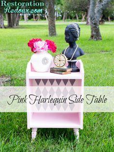 Pink Harlequin Side table