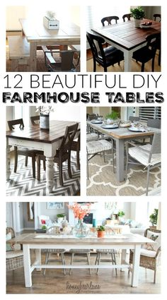 12+beautiful+farmhouse+tables.jpg (555×1000)