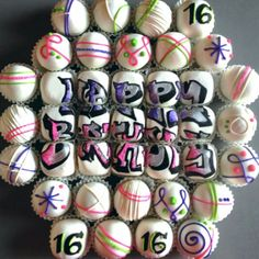 graffiti cake balls