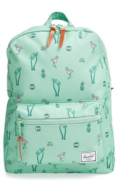 Free shipping and returns on Herschel Supply Co. 'Settlement - South Beach' Backpack (Girls) at Nordstrom.com. A classic backpack styled with a tropical-getaway print and detailed with oversized throwback zippers is crafted with cushy adjustable straps and a padded back panel that make a load of books or even adventure supplies comfy to carry.
